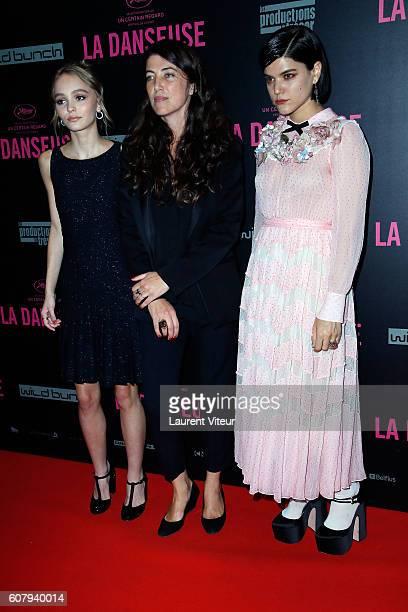 Actress LilyRose Depp Director Stephanie Di Giusto and Actress Soko attend 'la Danseuse' Paris Premiere at Cinema Gaumont Opera on September 19 2016...