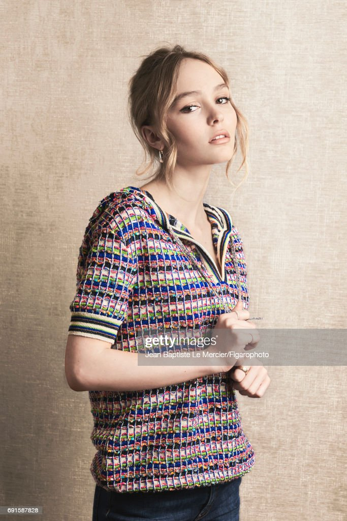 Actress Lily-Rose Depp is photographed for Madame Figaro on September 27, 2015 in Paris, France. PUBLISHED IMAGE.