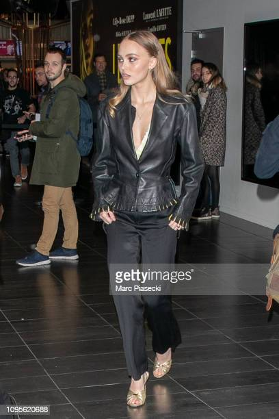 Actress LilyRose Depp is seen on January 17 2019 in Paris France