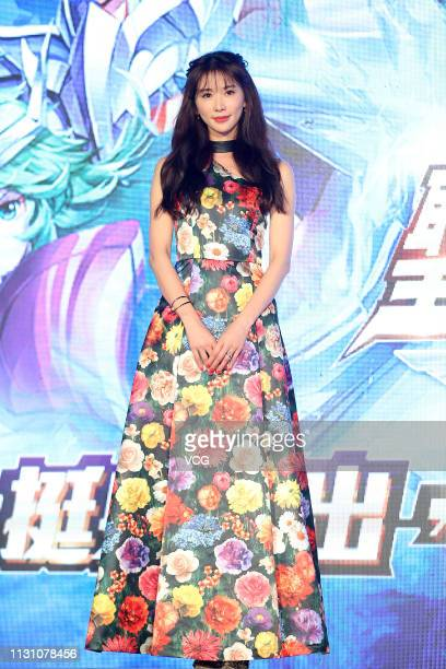 Actress Lin Chi-ling promotes a Tencent game on February 20, 2019 in Taipei, Taiwan of China.