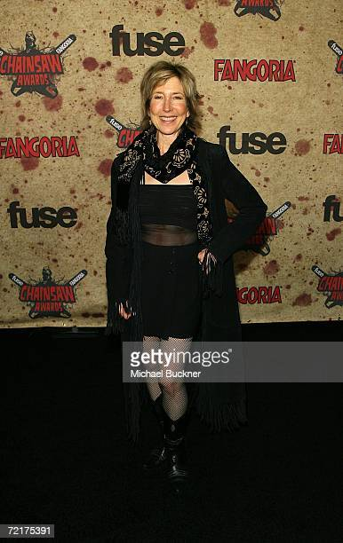 Actress Lin Shaye attends the fuse Fangoria Chainsaw Awards at the Orpheum Theater on October 15 2006 in Los Angeles California The awards will...