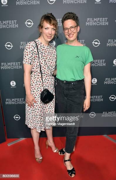Actress Lina Beckmann and Lola Randl attend the 'Fuehlen Sie sich manchmal ausgebrannt und leer' Premiere during Munich Film Festival 2017 at Arri...