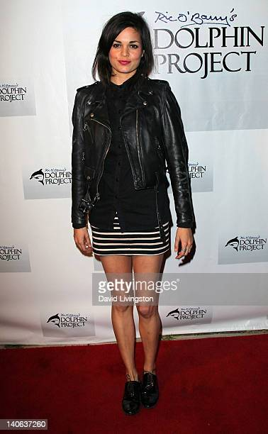 Actress Lina Esco attends a cocktail reception honoring Richard O'Barry star of the Oscar winning documentary The Cove at a private residence on...