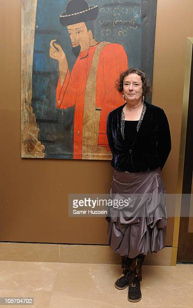 Actress Linda Bassett attends the West Is West After Party during the 54th BFI London Film Festival at the Mayfair Hotel on October 19 2010 in London...