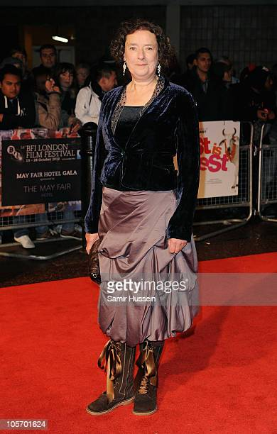 Actress Linda Bassett attends the West Is West premiere during the 54th BFI London Film Festival at the Vue West End on October 19 2010 in London...