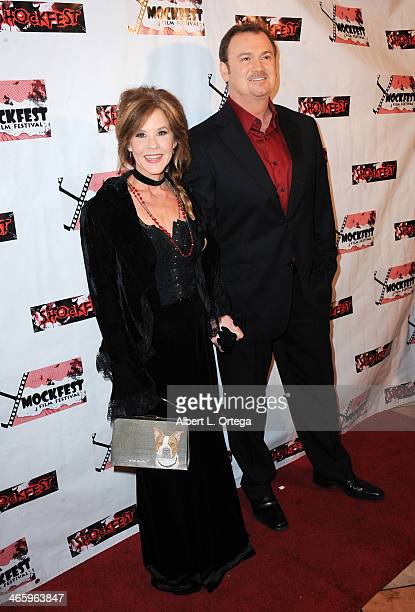 Actress Linda Blair and TV personality Clive Pearse host the ShockFest Film Festival Awards held at Raleigh Studios on January 11 2014 in Los Angeles...