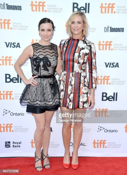 Actress Linda Cardellini and producer/actress Kristen Wiig attend the Welcome To Me premiere during the 2014 Toronto International Film Festival at...