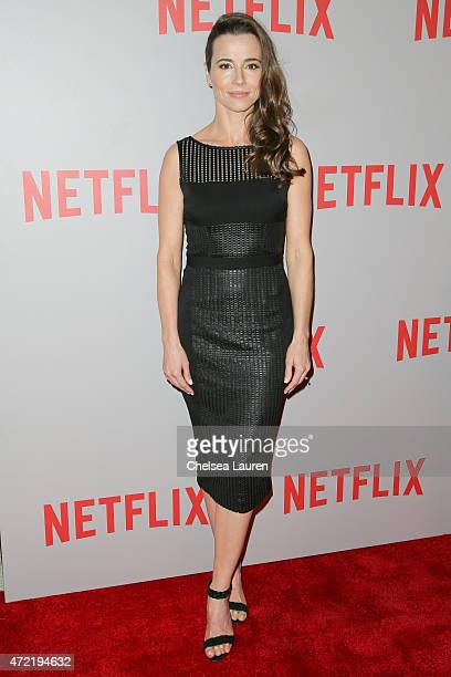 Actress Linda Cardellini arrives at Netflix's 'Bloodline' screening and QA at Pacific Design Center on May 4 2015 in West Hollywood California