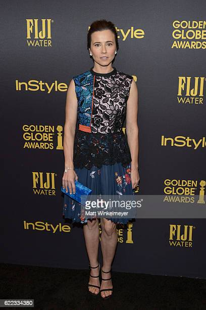 Actress Linda Cardellini arrives at the Hollywood Foreign Press Association and InStyle celebrate the 2017 Golden Globe Award Season at Catch LA on...
