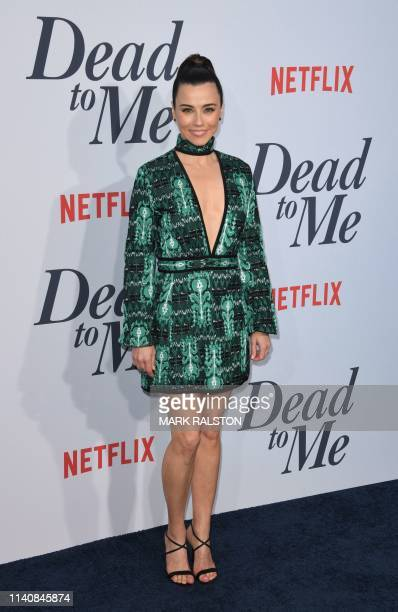 """Actress Linda Cardellini arrives for the premiere of Netflix's """"Dead To Me"""" Season 1 at the Broad Stage in Santa Monica, California on May 2, 2019."""