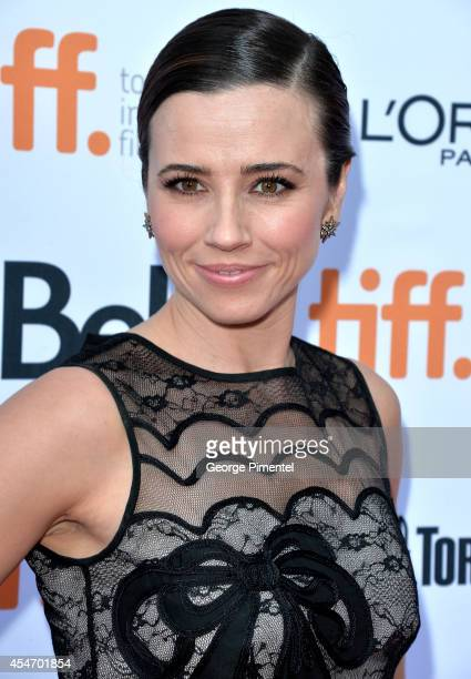 Actress Linda Cardellini attends the Welcome To Me premiere during the 2014 Toronto International Film Festival at Princess of Wales Theatre on...