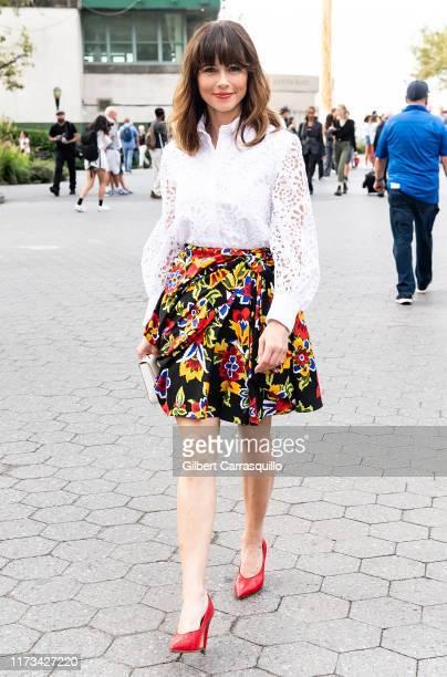 Actress Linda Cardellini is seen leaving Carolina Herrera fashion show during New York Fashion Week on September 09 2019 in New York City