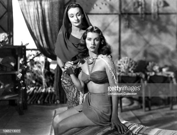 Actress Linda Christian and Andrea Palma in a scene from the movie Tarzan and the Mermaids