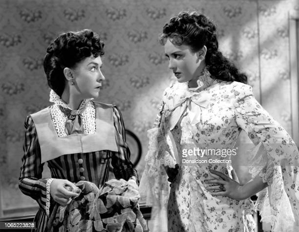Actress Linda Darnell and Dorthy Gish in a scene from the movie Centennial Summer