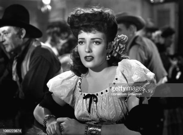 Actress Linda Darnell in a scene from the movie My Darling Clementine
