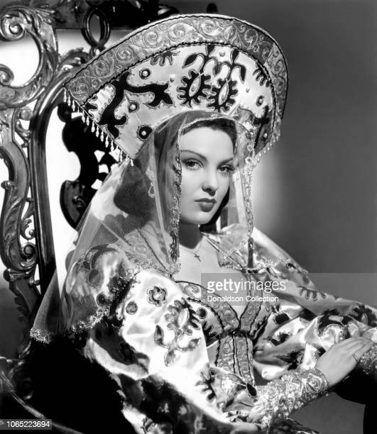 Actress Linda Darnell in a scene from the movie Summer Storm