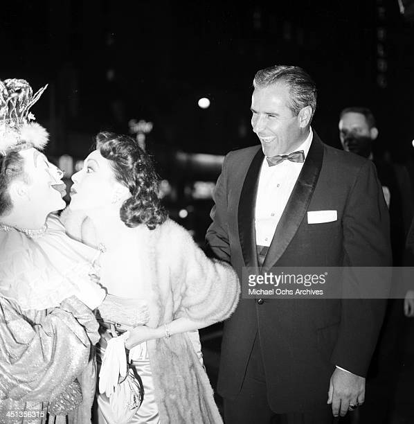 Actress Linda Darnell with husband Merle Roy Robertson attend a party in Los Angeles California