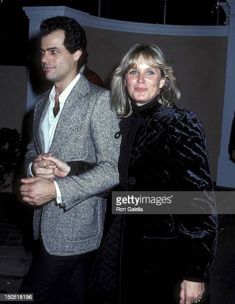 Actress Linda Evans and boyfriend restaurateur George Santo Pietro attend Rod Stewart's 36th Birthday Party on January 10 1981 at Alana and Rod...