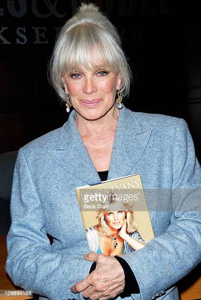 Actress Linda Evans signs copies of her new book Recipes For Life at Barnes Noble bookstore at The Grove on October 20 2011 in Los Angeles California