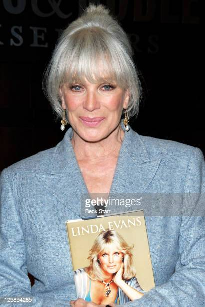 Actress Linda Evans signs copies of her new book 'Recipes For Life' at Barnes Noble bookstore at The Grove on October 20 2011 in Los Angeles...