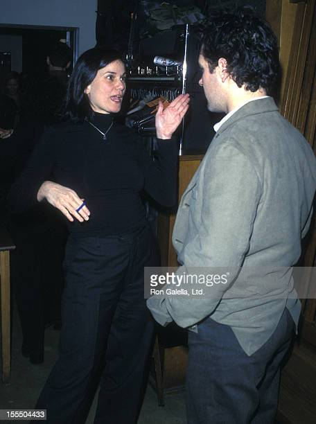 Actress Linda Fiorentino and actor Paul Rudd attend ACCESS Benefit Party on December 3 2001 at 10th Street Lounge in New York City