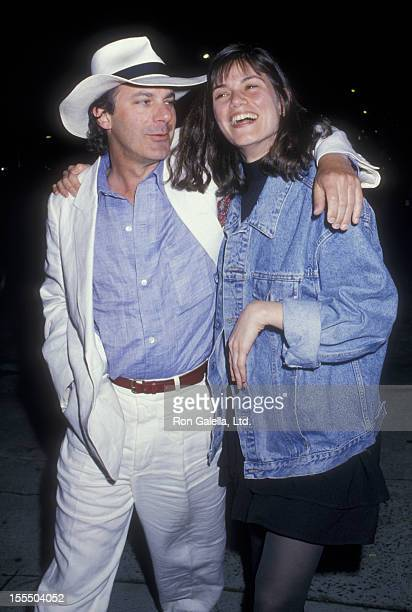 Actress Linda Fiorentino and date attend Tibet House Benefit on May 25 1988 at Indochine Restaurant in New York City