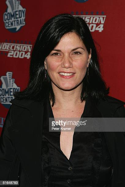Actress Linda Fiorentino attends the Comedy Central Election Night Party on November 2 2004 at The Park In New York City