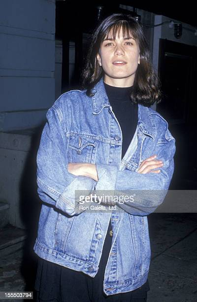 Actress Linda Fiorentino attends Tibet House Benefit on May 25 1988 at Indochine Restaurant in New York City