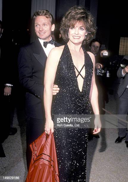 Actress Linda Gray and fashion designer Bob Mackie attend the Metropolitan Museum of Art's Costume Institute Gala Exhibition of Yves Saint Laurent 25...