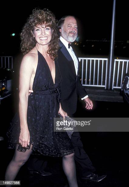 Actress Linda Gray and husband Ed Thrasher attend the 33rd Annual Primetime Emmy Awards on September 13 1981 at the Pasadena Civic Auditorium in...