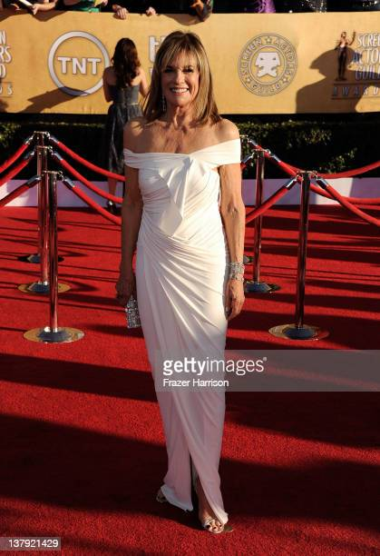 Actress Linda Gray arrives at the 18th Annual Screen Actors Guild Awards at The Shrine Auditorium on January 29 2012 in Los Angeles California