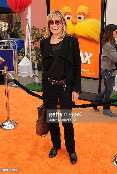 Actress Linda Gray arrives at the 'Dr Suess' The Lorax' Los Angeles premiere at Universal Studios Hollywood on February 19 2012 in Universal City...