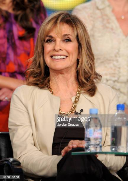 Actress Linda Gray speaks onstage at the Dallas panel during the 2012 Turner TCA at the Langham Hotel on January 14 2012 in Pasadena California...