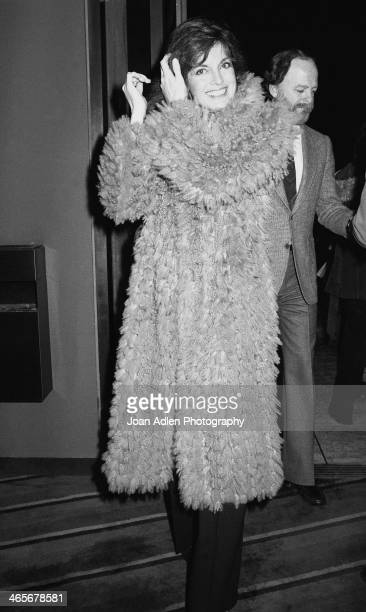 Actress Linda Grey and husband photographer Ed Thrasher attend the opening night dinner reception for 'Evita' at Chasen's Restaurant on January 13...