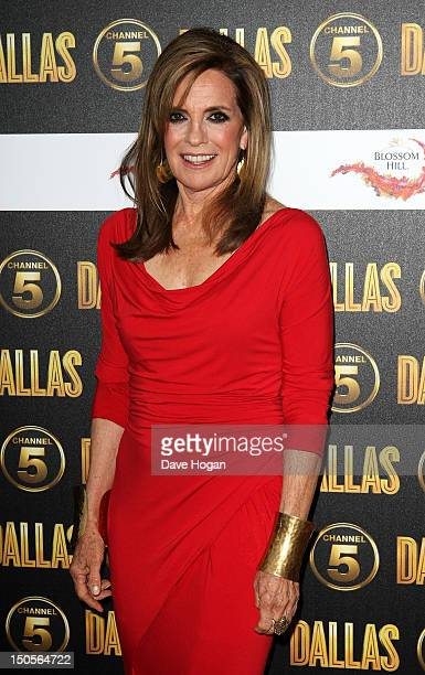 Actress Linda Grey arrives at the launch party for the new Channel 5 television series of 'Dallas' at Old Billingsgate on August 21 2012 in London...