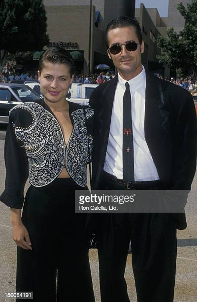Actress Linda Hamilton and husband Bruce Abbott attending 40th Annual Primetime Emmy Awards on August 28 1988 at Pasadena Civic Auditorium in...