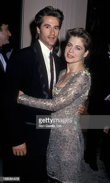 Actress Linda Hamilton and husband Bruce Abbott attending 46th Annual Golden Globe Awards on January 28 1989 at the Beverly Hilton Hotel in Beverly...