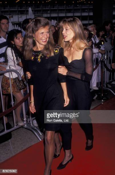 Actress Linda Hamilton and sister Leslie Hamilton attending the premiere of Terminator 2 on July 1 1991 at Cineplex Odeon Cinema in Century City...