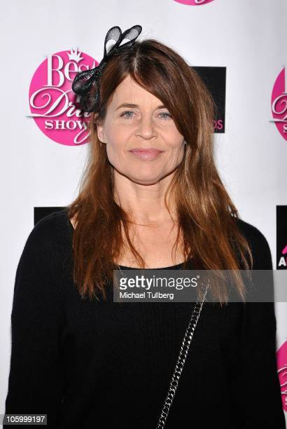 Actress Linda Hamilton arrives at the 8th Annual 'Best In Drag Show' beauty pageant at the Orpheum Theater on October 24 2010 in Los Angeles...