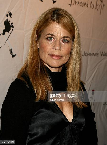 Actress Linda Hamilton arrives at the Johnnie Walker Dressed to Kilt 2006 fashion show during the Mercedes Benz Fashion Week at Smashbox Studios in...