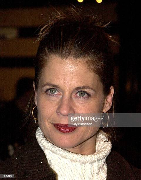 Actress Linda Hamilton arrives at the premiere of her new miniseries 'A Girl Thing' January 10 2001 in Hollywood CA