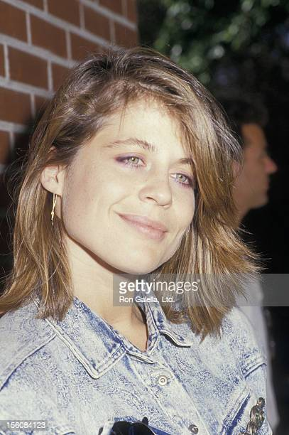 Actress Linda Hamilton attending 11th Annual Alpo Animal Celebrity Tour on August 30 1987 at Burbank Studio Ranch in Burbank California