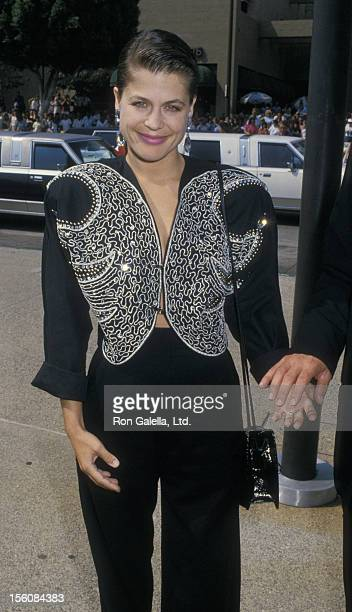 Actress Linda Hamilton attending 40th Annual Primetime Emmy Awards on August 28 1988 at Pasadena Civic Auditorium in Pasadena California