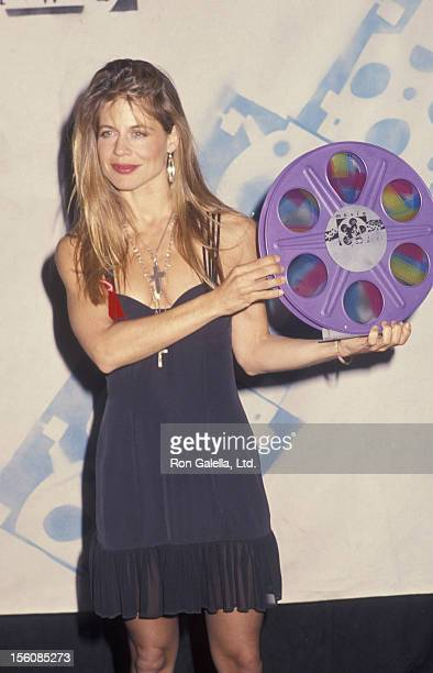 Actress Linda Hamilton attending First Annual MTV Movie Awards on June 5 1992 at Walt Disney Studios in Burbank California