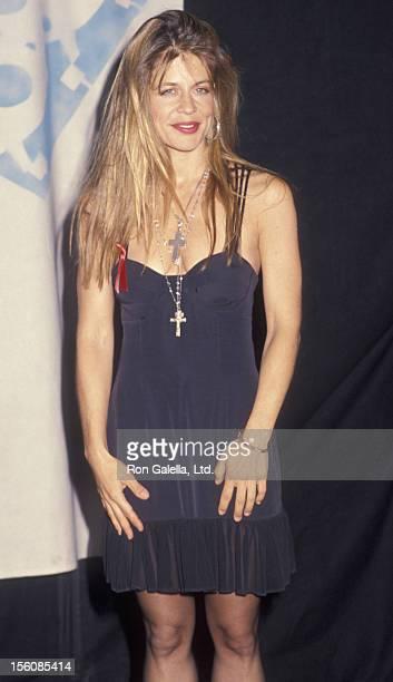 Actress Linda Hamilton attending First Annual MTV Movie Awards on June 5 1992 at Walt Disney Studios in Burbank California