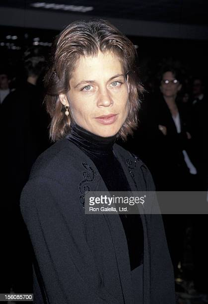 Actress Linda Hamilton attending Sixth Annual GLAAD Media Awards on March 12 1995 at the Century Plaza Hotel in Century City California