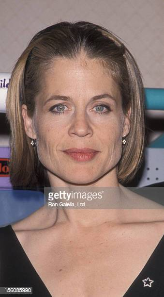 Actress Linda Hamilton attending 'Starlight Foundation NYNJCT Pins Project Benefit' on March 4 1999 at the New York Hilton Hotel in New York City New...