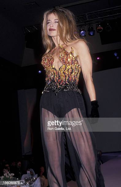 Actress Linda Hamilton attending 'T Mugler AIDS Project Benefit' on April 23 1992 at the Century Plaza Hotel in Century City California