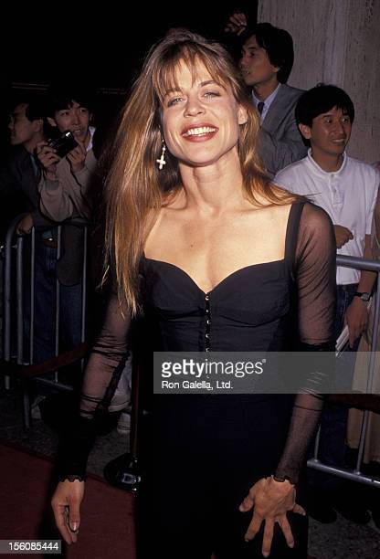Actress Linda Hamilton attending the premiere of 'Terminator 2' on July 1 1991 at Cineplex Odeon Cinema in Century City California