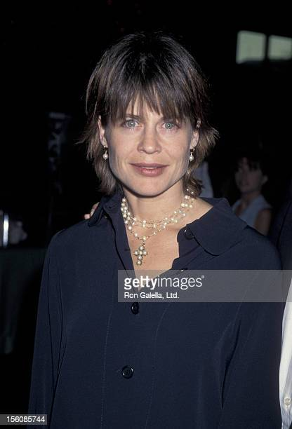 Actress Linda Hamilton attending the screening of 'A Mother's Prayer' on July 18 1995 at the Director's Guild Theater in Hollywood California